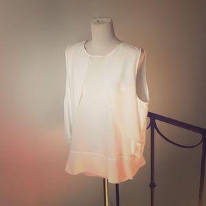 Zara Basic White Blouse - NWOT
